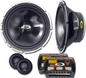 set de 2 vias de car audio - woofer y tweeter