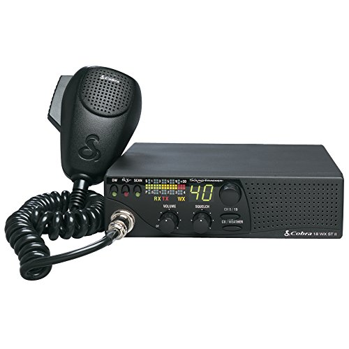 Cobra 18WXSTII CB Radio - 40 Channel, Sound Tracker, NOAA Weather Channels, Dual Watch, Instant 9